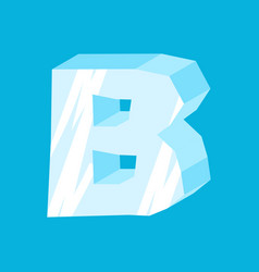 letter b ice font icicles alphabet freeze vector image vector image