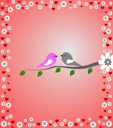 Love-birds vector image