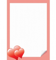 Love letter template with hear vector