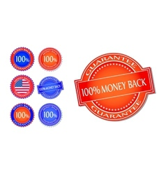 Money back guarantee seal set vector