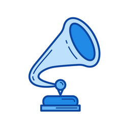phonographe line icon vector image vector image