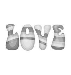 rainbow inscription of the word lovehippy single vector image vector image
