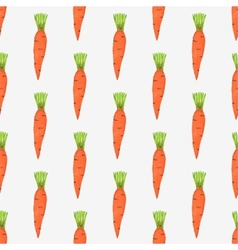 Seamless watercolor pattern with tiny carrots on vector