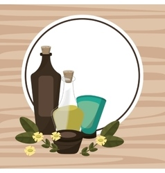 Spa therapy lotion oil body cream poster vector