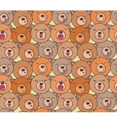 The pattern of funny bears vector image
