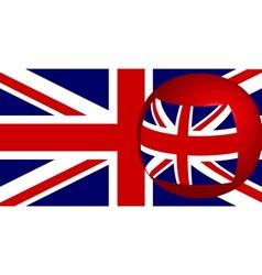 Union flag on a sphere vector