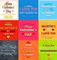 Valentines background set vector