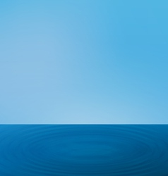 Wallpapers ripple sea landscape with the horizon vector image vector image