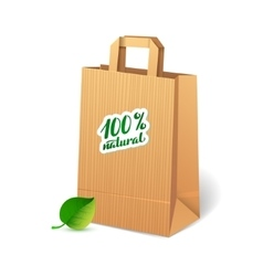 Shopping bags that save the environment vector