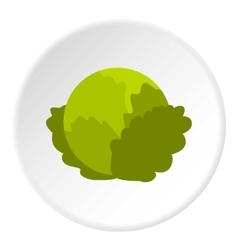 Cabbage icon flat style vector