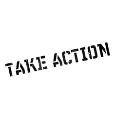 Take action stamp vector