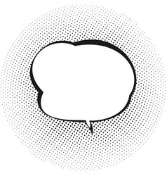 Retro speech bubble vector