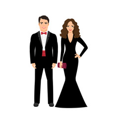 Young elegant fashionable couple vector