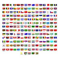 Flags of all countries in the world vector