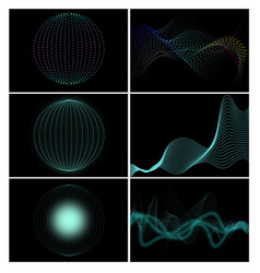 Set with abstract elements vector