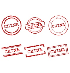 China stamps vector image