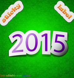 Happy new year 2015 icon sign symbol chic colored vector