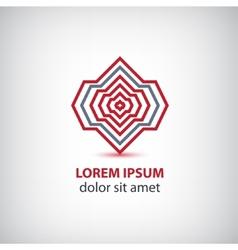 Abstract modern red tech stripes logo vector