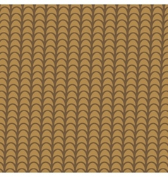 Clay brown tile roof abstract background vector