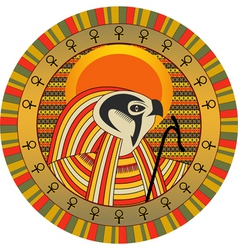 Egyptian god of sun ra vector