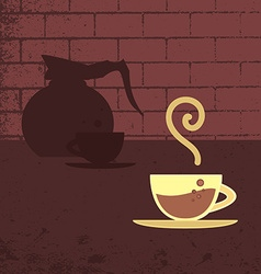 Poster banner with coffee vector