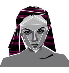 angular girl vector image