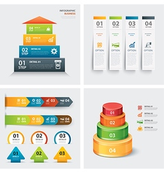 Set of infographic templates vector