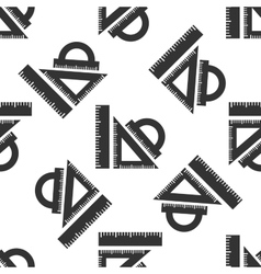 Straightedge icon pattern vector image