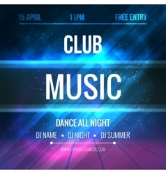 Club music poster template night dance party vector