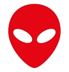 Alien Head Flat Icon vector image vector image