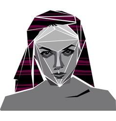 angular girl vector image