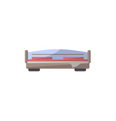 bed isolated icon in flat style vector image vector image