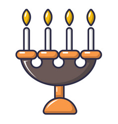 Candlelight candlestick icon cartoon style vector