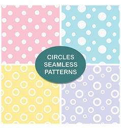Circles seamless pattern set vector image
