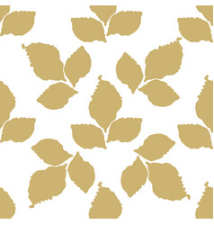 Decorative leaf seamless pattern vector