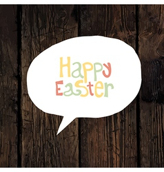 easter greeting on wooden background vector image vector image
