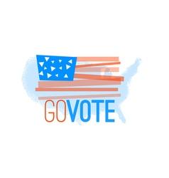 Go vote primitive flag on grundy US map background vector image vector image