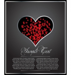 Heart shaped card vector