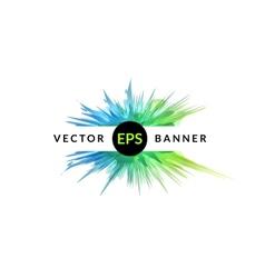 Ink explosion banner design template digital vector image