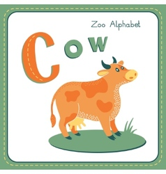 Letter C - Cow vector image