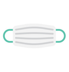 medical mask in flat style vector image vector image