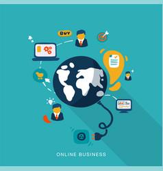 Online business vector