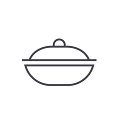 pot line icon sign on vector image vector image