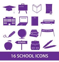 school icon set eps10 vector image vector image