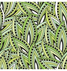 Seamless pattern with green leaves and blots vector image vector image