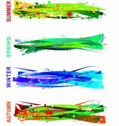 Seasons banners vector