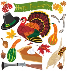thanksgiving clipart icons vector image vector image