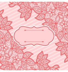 Vintage lace background abstract ornament texture vector image vector image