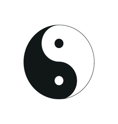 Ying yang symbol of harmony and balance simple vector