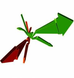 brown and green 3d arrows vector image